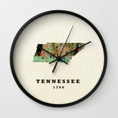Tennessee state map modern Wall Clock