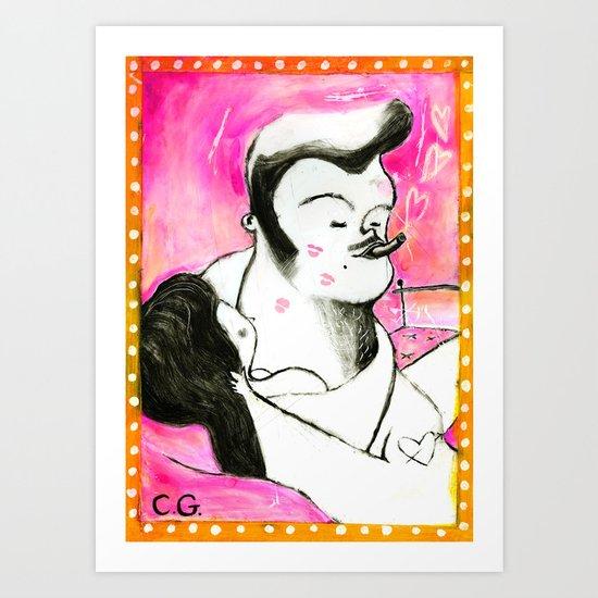 SMOKER THREE (smoky lovers) Art Print