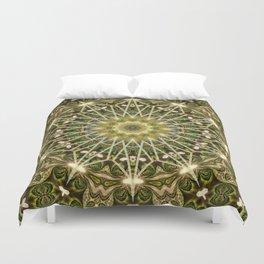 Geometric Forest Mandala Duvet Cover