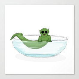 The Cutie from the Black Lagoon Canvas Print