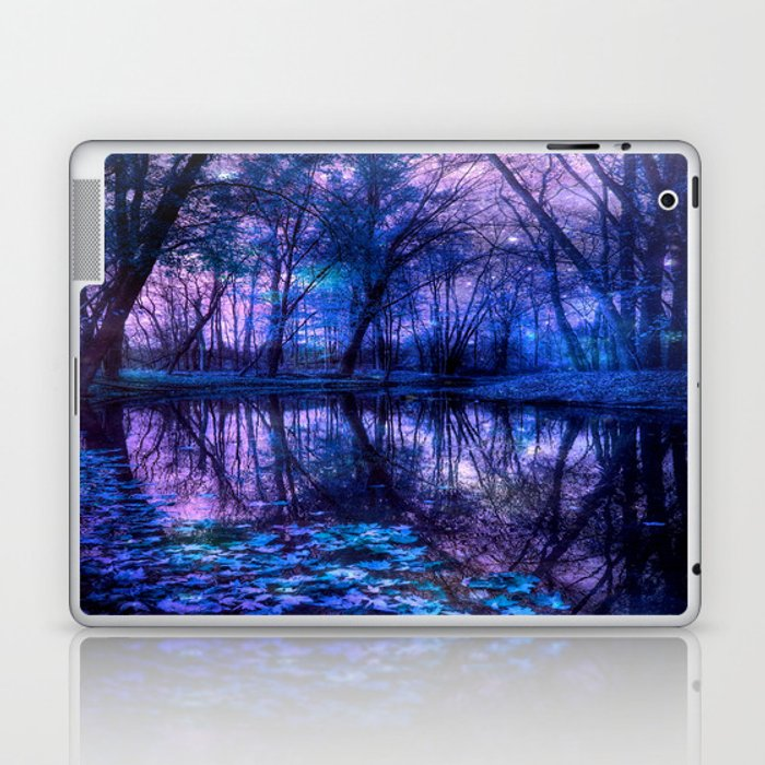 Enchanted Forest Lake Purple Blue Laptop & iPad Skin