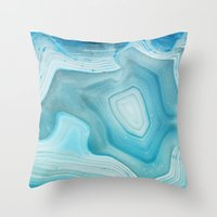minerals Throw Pillows featuring THE BEAUTY OF MINERALS 3 by Catspaws