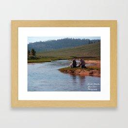 A Hikers Rest Framed Art Print