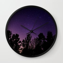 Stars view from the forest Wall Clock