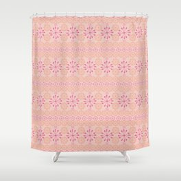 Pinwheel Blush Shower Curtain