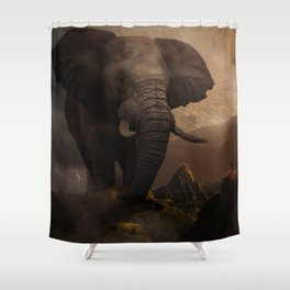 The Famous Giant Elephant by GEN Z Shower Curtain