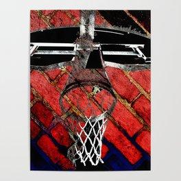 Red Basketball Art Poster