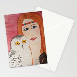The Owl Woman Stationery Cards