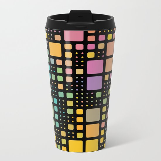 Pop Squares Metal Travel Mug
