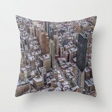 Snowy Tops Throw Pillow