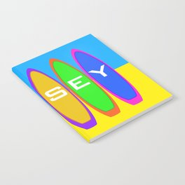 Jersey Surfboards on the Beach Notebook