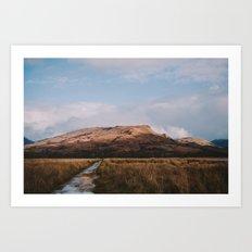 Trail through the Scottish Highlands Art Print