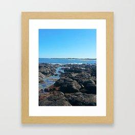 Rockpool Landscape Framed Art Print