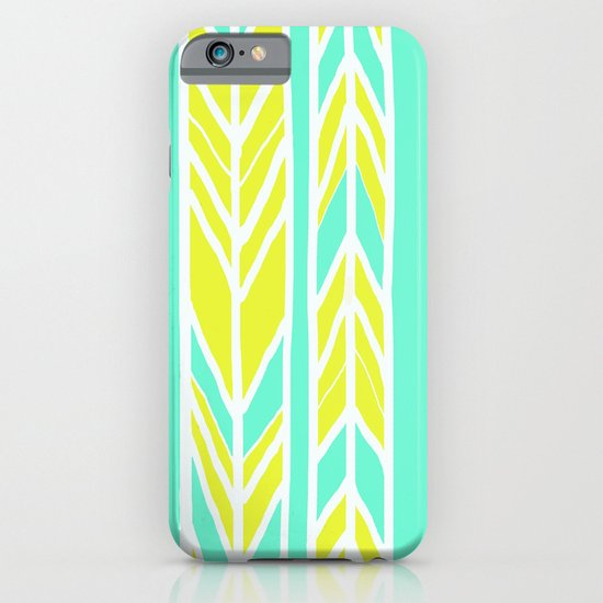 Stripes: Green & Teal iPhone & iPod Case