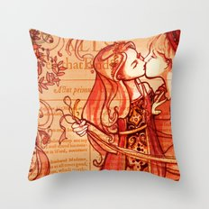 Alls Well That Ends Well - Romantic Shakespeare Folio Illustration Throw Pillow