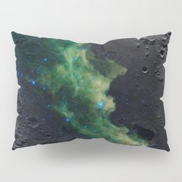 The Witch's Mirror The Dark Side Of The Moon (Mare Moscoviense & Witch Head Nebula) Pillow Sham