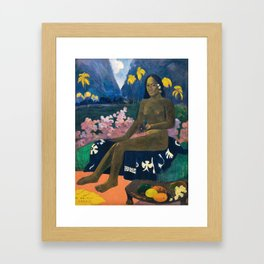 The Seed of the Areoi by Paul Gauguin Framed Art Print
