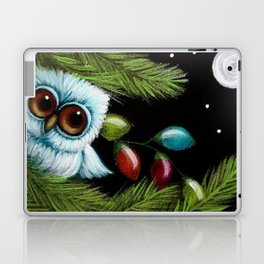 TINY BABY OWL - 1ST CHRISTMAS TREE LIGHTS Laptop & iPad Skin