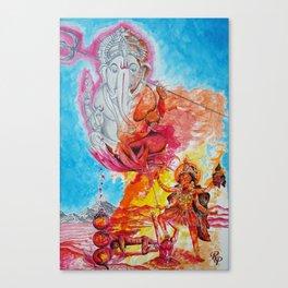 Ganesh Kali Canvas Print