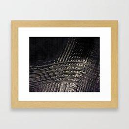 Back to Black Framed Art Print