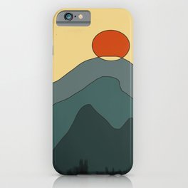 Abstract Sunset iPhone Case