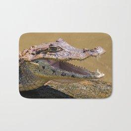 Smiling crocodile in Tortuguero Bath Mat