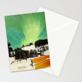 Dont Forget Northern Lights Stationery Cards
