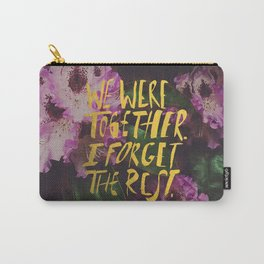 Whitman: We Were Together Carry-All Pouch