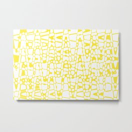Asymmetry collection: yellow abstract animal print Metal Print