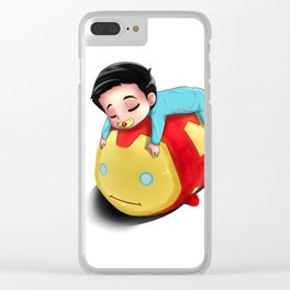 Baby Alden and His TSUMTSUM Clear iPhone Case