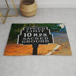 Slow Down! Sacred Ground! Rug