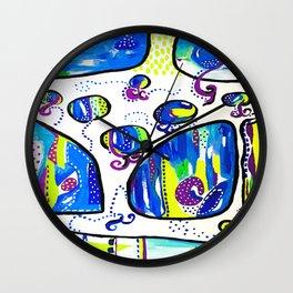 The Wandering Jellies Wall Clock