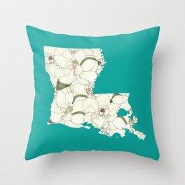 Louisiana in Flowers Throw Pillow