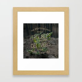 Psalm 34 Framed Art Print