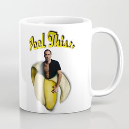 Nicolas Cage in a peeled banana Coffee Mug