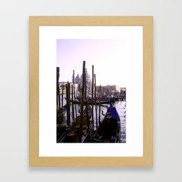 Venezia Gondolas Framed Art Print