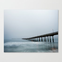 Cold morning stretch Canvas Print