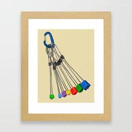 Rock Climbing Wires Framed Art Print