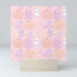 Halloween Pixel Pattern Mini Art Print