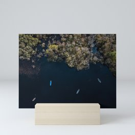 Drone photography | Aerial in Ireland above a lake Mini Art Print