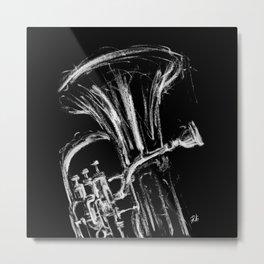 Silver euphonium Metal Print