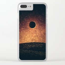 Moon Eclipse Clear iPhone Case