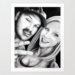 Jessie and Drew Art Print