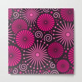 Pink retro abstract Metal Print