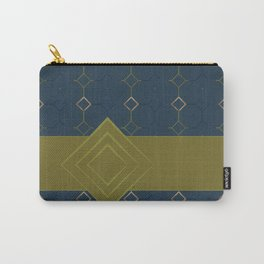 Teal Tile with Ribbon Carry-All Pouch