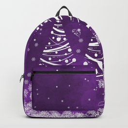 Happy Holidays Purple Magic Backpack