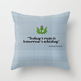 scottish proverb Throw Pillow