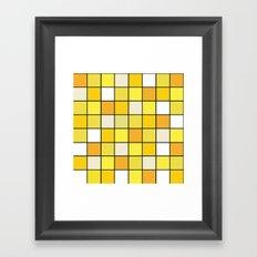 Square Yellow Jellyfish Framed Art Print