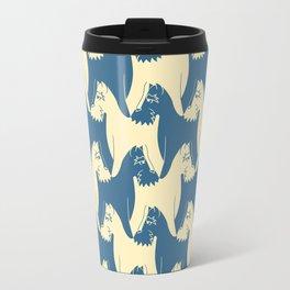 Dog Pattern | Schnauzer | M. C. Escher Inspired Artwork by Tessellation Art Travel Mug