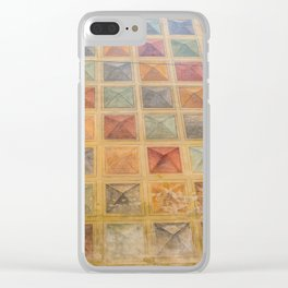 The Wall full of colorful cubes, pyramids Clear iPhone Case